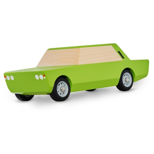 Drewniany Duży Fiat zielony
