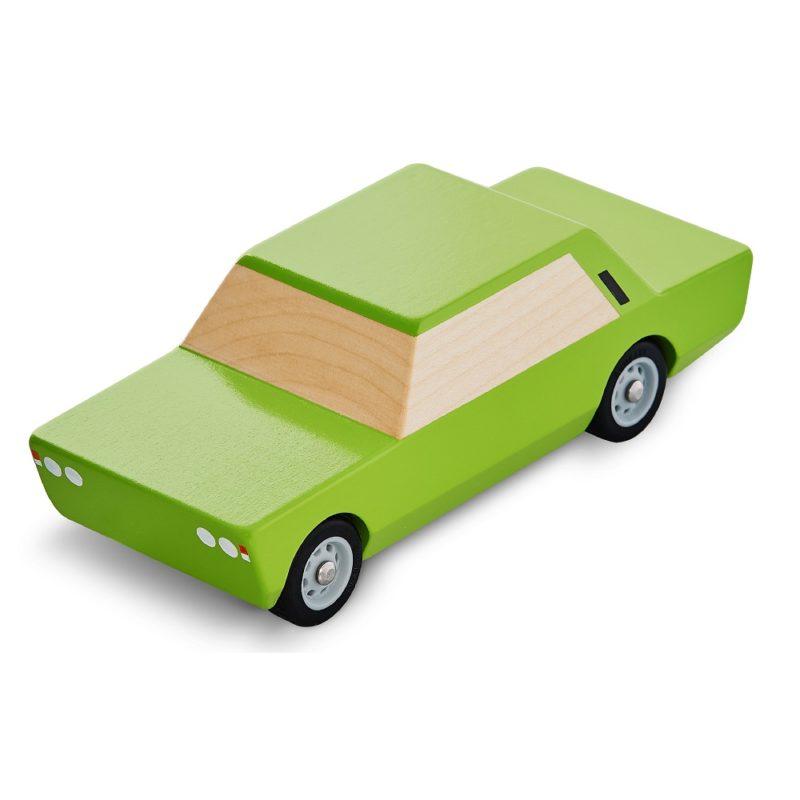 Fiat 125p zielony drewniany