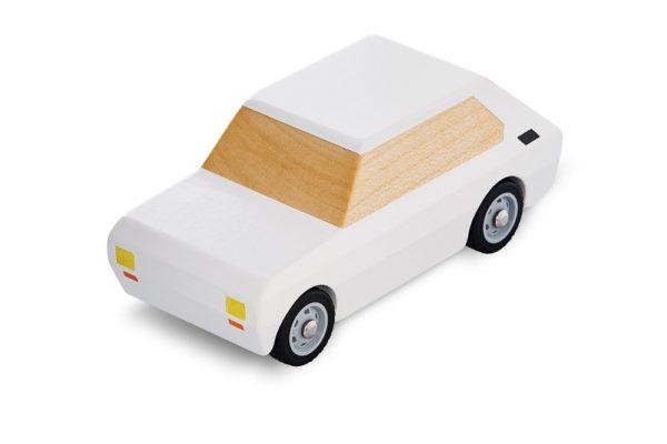 Fiat 126p drewniany bialy