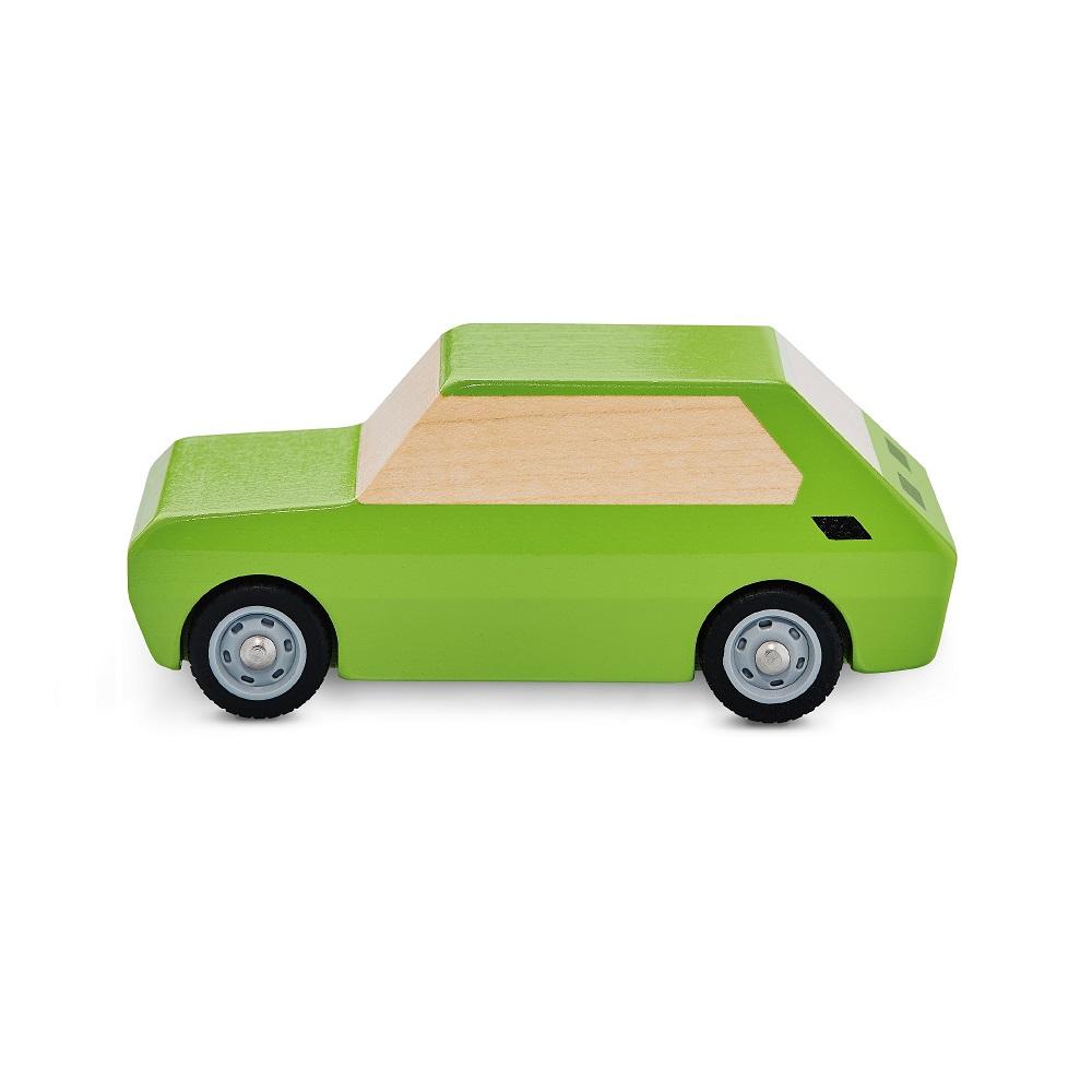 Fiat 126p drewniany zielony