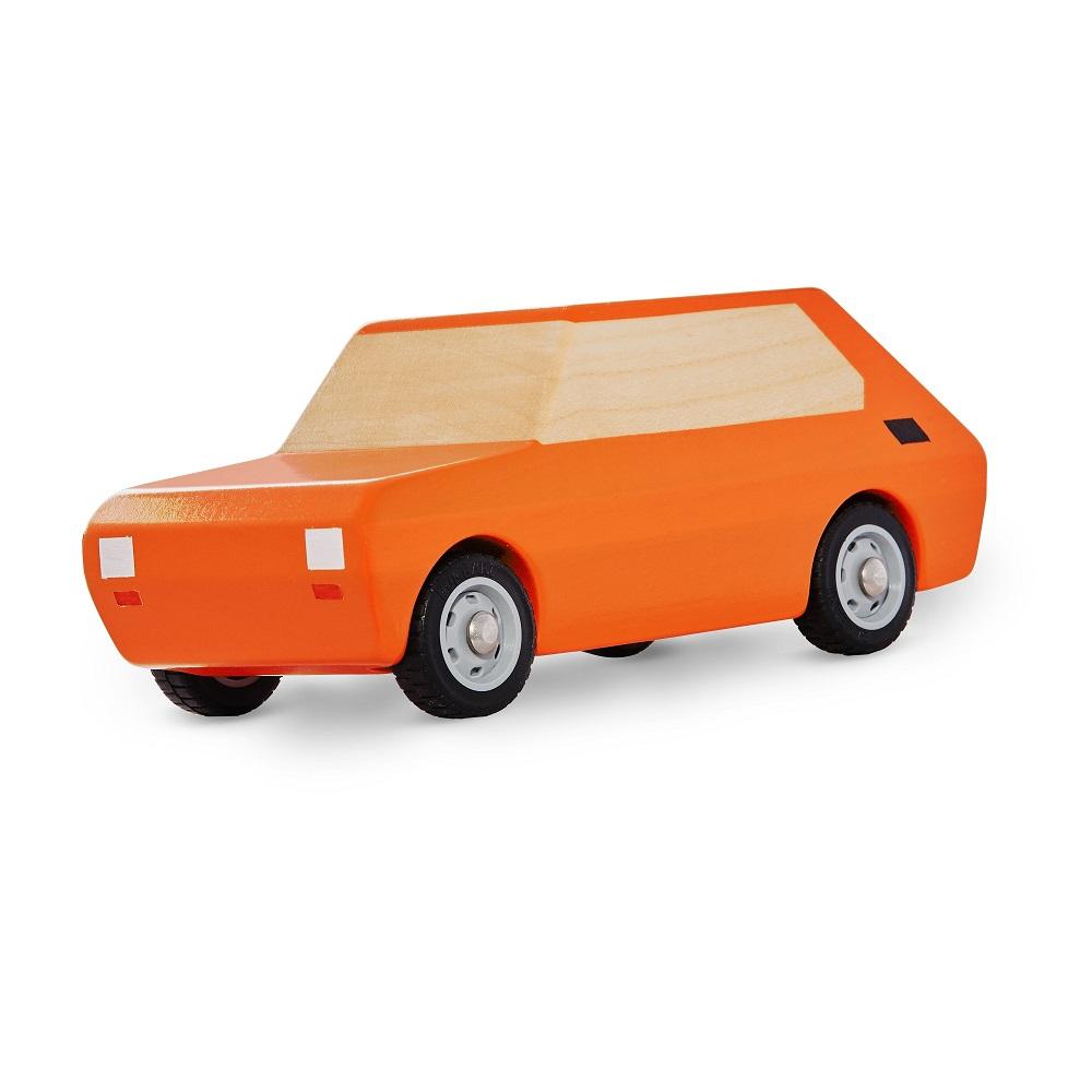 Fiat 126p model drewno pomarancz