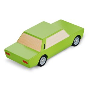 Kanciak drewniany samochodzik zielony
