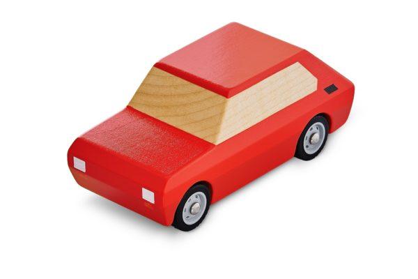 Maluch Fiat 126p zabawka drewniana