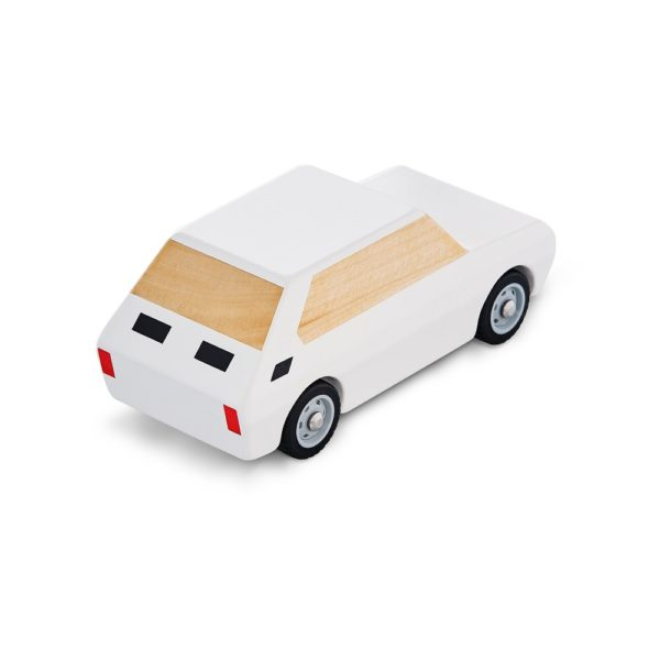 Maluch zabawka drewniana ozdoba biały