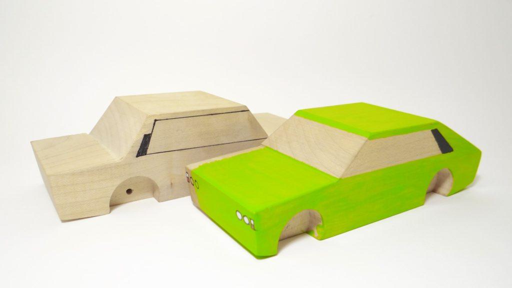 produkcja drewnianych autek - prototypy